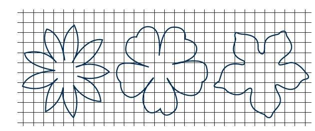 Вырежьте из бумаги трафареты цветов