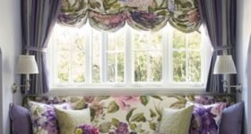 французские шторы я гостиной