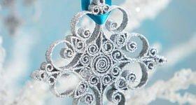 Объемная новогодняя снежинка