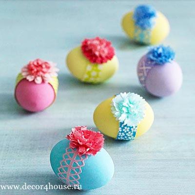 как красиво раскрасить пасхальные яйца
