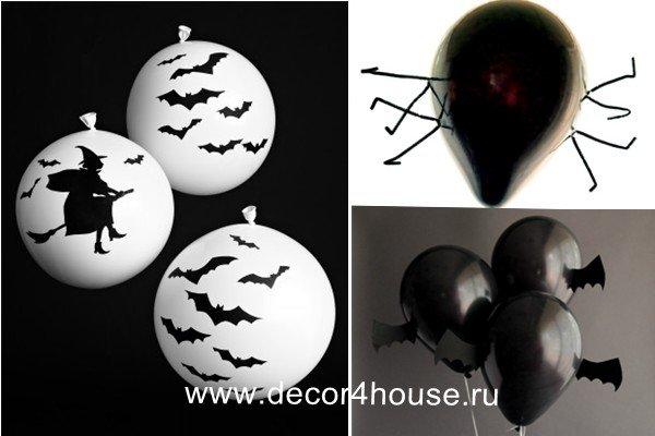 Украшения на Хеллоуин из воздушных шариков