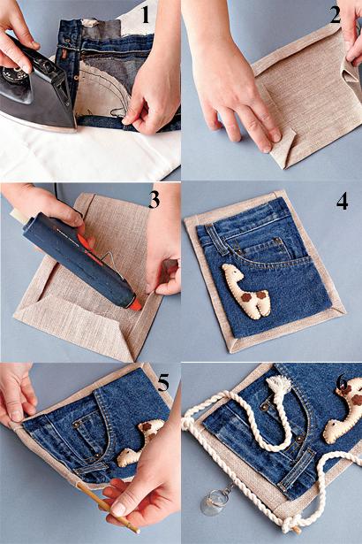 Как сделать из бумаги джинсы