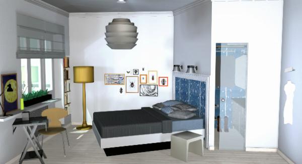 Спальная комната с гардеробной