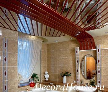 дизайн реечных потолков