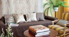 текстильный дизайн в гостиной квартиры