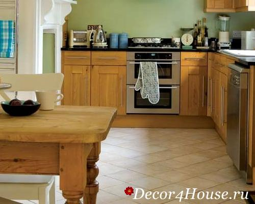 Укладка плитки на кухню на пол своими