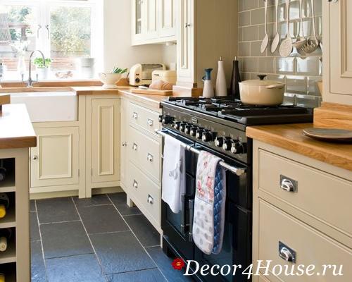 Укладка плитки на пол на кухне