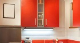 Размеры навесных кухонных шкафов